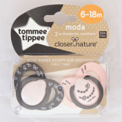 Closer To Nature Moda Soother Twin Pack - 6-18m