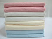 2 Pack Cream Luxury Baby Cot / Cot Bed Flannelette Flate Sheet Set Pack