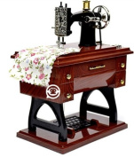 Vintage Wooden Sewing Machine Music Box,Creative Gifts