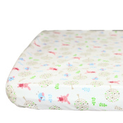 Sunveno 100% Cotton Baby Crib Fitted Sheet Bed Matching Fitted Sheet Bedding Pattern 140*79cm Rabbit