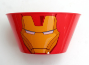 Childrens Plastic tableware - Marvel Avengers - Iron Man - Plate, Bowl, Cup with straw and lid