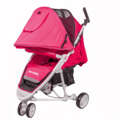 MirthMe WA10 Baby (Baby Pink) Travel System / Baby Stroller / Baby Pram with Rain Cover