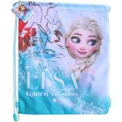 Disney Frozen Elsa Queen of Snow Drawstring School Sports Gym & Swimming Bag