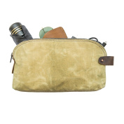 Waterproof Waxed Canvas All Purpose Utility Bag With Interior Leather Edge Lining