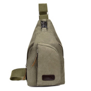 AKSSWEET Outdoor Chest Pack Casual Sports Canvas Crossbody Sling Bag Hiking Bag
