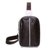 iNeseon Men PU Leather Casual Sling Cross-body Chest Bag Single Shoulder Bag Backpack for Outdoor Activities Sport Travel