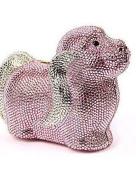 ZY Women's Animal Shape Crystal Dog Evening Bag