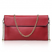 Women's Genuine Split Leather Evening Envelope Clutches Handbags Shoulder Bag