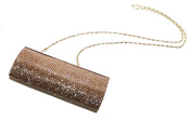 Ophelia Diamante Embellished 20x10cm Golden Clutch Bag