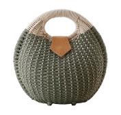 Tonwhar® Lady's Stylish Shell Shape Straw Tote Handbag Rattan Beach Bag