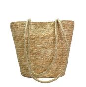 Tonwhar® European Style Simple Elegant Straw Woven Beach Tote Bag Purse