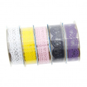 Crazo 5pcs Decorative Sticky Adhesive Lace Tape for DIY Craft