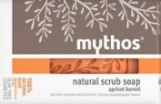 MYTHOS NATURAL SCRUB SOAP 100% NATURAL BASE ALL SKIN TYPES APRICOT KERNEL 100 GR.
