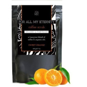 For All My Eternity Organic Coffee Scrub Sweet Orange - The first UK-made Coffee Body Scrub made with Organic Fairtrade Coffee. Expertly blended with 4 Cold-Pressed Organic Oils, Brown Sugar, Sweet Orange Essential Oil and Dead Sea Salt for the best Fa ..