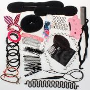 Neverland Beauty Hair Styling Accessories Bun Maker Roller Braid Twist Elastics Pins Hair Design Styling Tools Kit #5