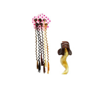 Set of 6 with strands wavy Synthetic Hair