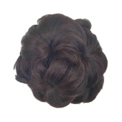 Women meatball head bud wig girl hair accessories Lady Updo ponytail