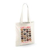 David and Goliath Tote Bag - Cat Lady