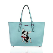 LYDC London Large Boston Terrier Design Tote Bag