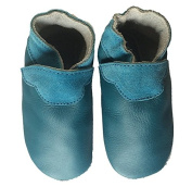 Didoodam - Soft Leather Baby Shoes - Green duck