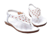Bohemian 2014 new summer sandals shoes flip Ethnic beaded clip toe flat shoes flower child