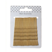 Card of 30 Blonde Long Length Kirby Grips Hair Clips Bobby Pins 6.5cm