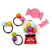 Set Of 3 Love The Bead Hair Band Tie Bobble Pack
