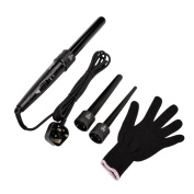 CkeyiN® 3-in-1 Hair Curling Tongs Kit Multifunction Exchangeable Hair Styling Curler Wand