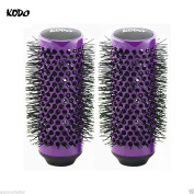 2 x Kodo Lock and Roll Purple Hair Brush Replacement Heads 45mm Detachable