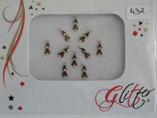 One (1) Packet Multi Pack Designer Crystal Diamant� Bindi - Stick On Temporary Body Art Tattoo Jewel for Bollywood Party Prom Wedding - Glitter #432