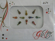 One (1) Packet Multi Pack Designer Crystal Diamant� Bindi - Stick On Temporary Body Art Tattoo Jewel for Bollywood Party Prom Wedding - Glitter #254