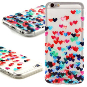 Samidy Iphone SE Case, Iphone 5 Case, Iphone 5S Case, Love Heart Dotted Back Cover with Screen Protector