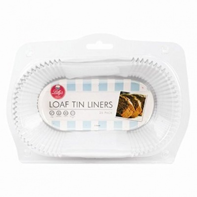 pack of 50 non stick loaf tin liners by lillys. Black Bedroom Furniture Sets. Home Design Ideas