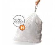 simplehuman Code H Custom Fit Bin Liners - 30-35 L, Pack of 240