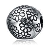 Flower Charm for Pandora Bracelet Authentic Genuine 925 Sterling Silver