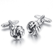 Vintage Cufflinks for Mens Jewellery Shirt Cufflinks, Silver, Round C063
