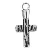 Cross Shape Cremation Ash Urn Keepsake Pendant for Necklace Jewellery