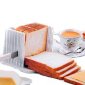 Kitchen Pro Bread Loaf Slicer Slicing Cutter Even Slices Guide Tool, White