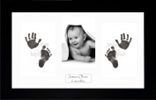Anika-Baby BabyRice Baby Hand and Footprints Kit includes Black Inkless Prints/ Black Frame with White Mount Display