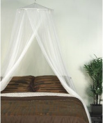 N7 White Elegant Round Top Bed Canopy