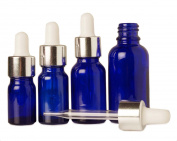 5 ml Cobalt Blue Glass Eye Dropper Empty Bottle Refillable Serum Aromatherapy Oils Wholesale Pipette Bottles Lot Of 6 Boston Round Bottles