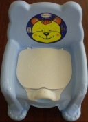 Blue Kids Baby Plastic Potty Training Chair Seat With Removable Lid New