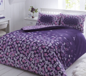 Pieridae Scattered Purple Floral Duvet Cover Pillowcase Set Bedding Quilt Single Double King Multi