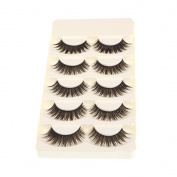 Anself 5 Pairs False Eyelashes Pure Hand-made Thick Long Voluminous Fake Lashes