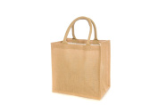 10 x Jute Hessian Medium Luxury Plain Shopping Bag