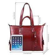 S-ZONE 3-Way Ladies Women's Cow Split Leather Tote Bag Handbag Shoulder Bags