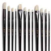 Colore Art Paint Brushes With Nylon Wrapping Case – Complete PACK of 36 Professional Grade Paint Brush Set – 12 Acrylic, 12 Oil & 12 Watercolour Paintbrushes – Lightweight and Durable Painting Supplies