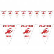 Beistle Crawfish Boil Pennant Banner, 3m by 3.7m, White/Red