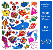 Fish Dolphin Shape Stickers for Scrapbook
