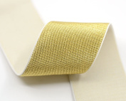 iCraft 5.1cm Wide Soft Gold and Silver Glitter Elastic Bands By 3-yard, Waistband Elastic , Sewing Elastic